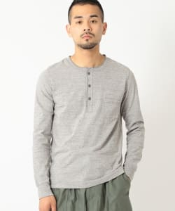 REMI RELIEF × BEAMS PLUS / 別注 ロングスリーブ ヘンリーネックTシャツ GRY
