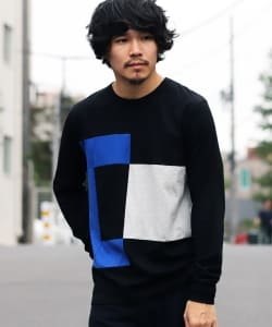 ALOYE / Color Block Long Sleeve Tee 19AW