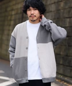 Crepuscule × BEAMS T / 別注 Crazy V-neck Cardigan