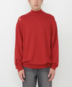 【予約】VAPORIZE / Damage Loose Hi-Neck Knit