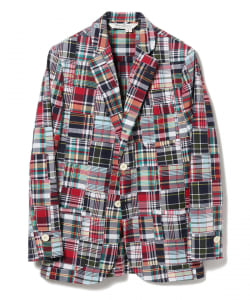 ROWING BLAZERS / PATCHWORK MADRAS COTTON BLAZER