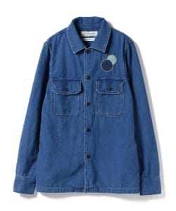 REMI RELIEF × BEAMS PLUS / 別注 インディゴ ミリタリーシャツジャケット