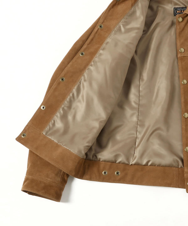 Suede Jean Jacket 11-18-3913-343: Brown