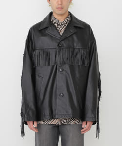 VAPORIZE / Cow Leather Fringe Jacket