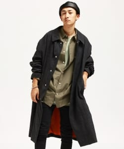 VAPORIZE / Wool Check Coat