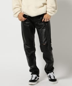 VAPORIZE / Leather Zip Pants