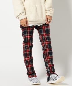 VAPORIZE / Tartan Check Zip Pants