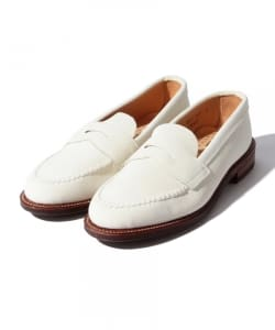 "ALDEN × BEAMS PLUS / 別注 ""White Penny Loafers"""