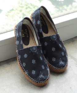 【予約】SALVI × BEAMS / 別注 Bandana Espadrilles