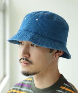 WILD THINGS × BEAMS / 別注 Sheltech Denim Bucket Hat