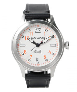 JACK MASON / Rescue Orange AVIATION JM-A401-005 JAPAN LIMITED EDITION 3針 ウォッチ