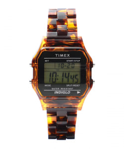 "【予約】TIMEX × BEAMS / 別注 Classics Digital ""Tortoise shell"" デジタル ウォッチ"