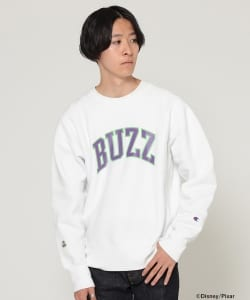 Champion × BEAMS / 男装 長袖圓領衛衣 Buzz