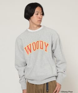 Champion × BEAMS / 男装 長袖圓領衛衣 Woody
