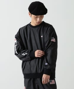 Champion × BEAMS / 男裝 長袖LOGO T恤