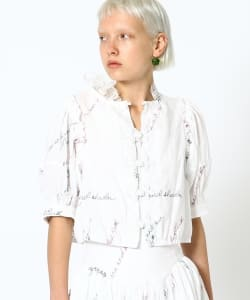 【予約】maturely / YIN-YANG Embroidery Blouse