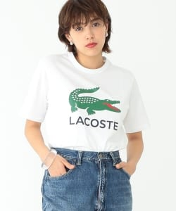 LACOSTE / 別注 ロゴ プリント Tシャツ