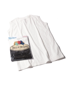 【WEB限定】FRUIT OF THE LOOM × BEAMS BOY / 2packs ノースリーブ Tシャツ