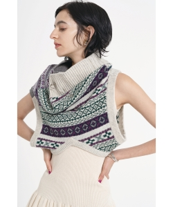 maturely / Fair Isle Up & Down Vest