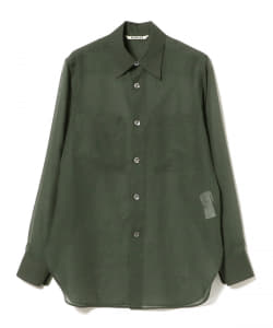 AURALEE / WOOL RECYCLE POLYESTER SHEER CLOTH SHIRT