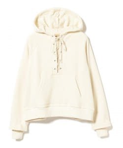 maturely / Lace-up Hood Jersey