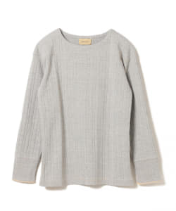 maturely / Tricolor Stitch Long sleeve T-shirt