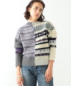 【予約】maturely / Fair Isle Back to Front Cardigan