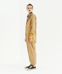 maturely / Button-down&Work Suspender Pants