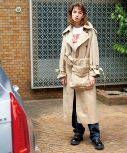 【1/10再値下げ】【CLUEL 12月号掲載】maturely / Big Trench Extra Coat