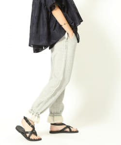 【予約】maturely / Side Cut Off Jersey Pants