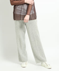 【予約】maturely / Lamb Wool Whole Garment Wide Pants
