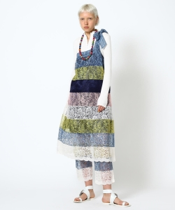 【予約】maturely / Multi Lace Unit Dress