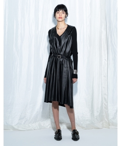 【予約】maturely / Vegan Leather Dress
