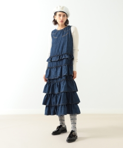 maturely / Denim & Jacquard Western Dress