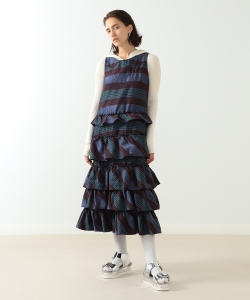 【予約】maturely / Denim & Jacquard Western Dress