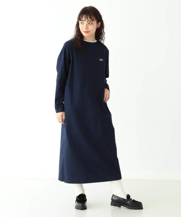 LACOSTE × BEAMS BOY / 別注 ボートネック ドレス