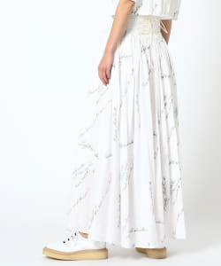 maturely / YIN-YANG Embroidery Maxi Skirt
