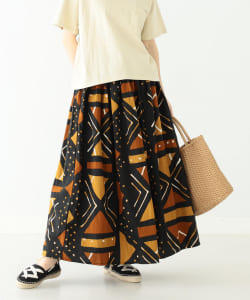 【予約】orslow × BEAMS BOY / 別注 African Print Skirts