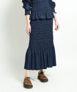 【予約】maturely / 6oz Denim Shearing Skirt