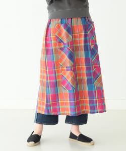 South2 West8 × BEAMS BOY / 別注 Madras 6Pocket Skirt