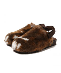 maturely / Fur Scarab Sandals