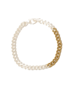 maturely / Silver & Gold Chain Necklace