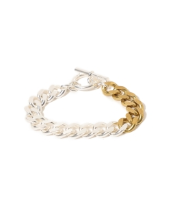 maturely / Silver & Gold Chain Bracelet