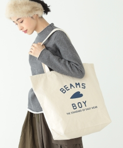 BEAMS BOY / BB ロゴ TOTE BAG (L)