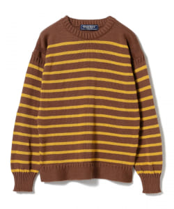 GUERNSEY WOOLENS / 別注 ボーダー クルーネックニット