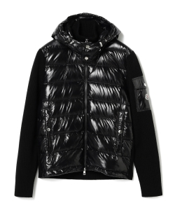 MONCLER / MAGLIONE ニット×シャイニーナイロン ダウンパーカ
