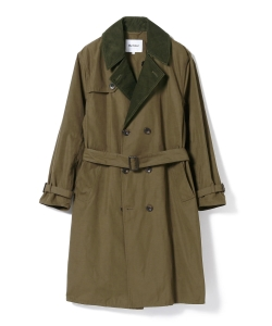 Barbour × BEAMS F / 別注 WHITLEY ピーチスキン トレンチコート