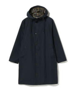 Barbour × BEAMS F / 別注 HOODED HUNTING ピーチスキン フーデッド ハンティングコート