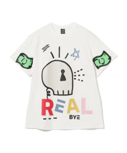 REAL BUY / REAL SKULL プリントTシャツ