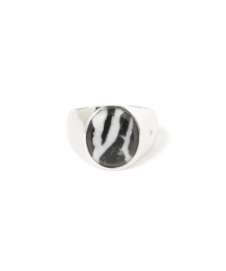 TOM WOOD / Oval Zebra Marble シルバーリング